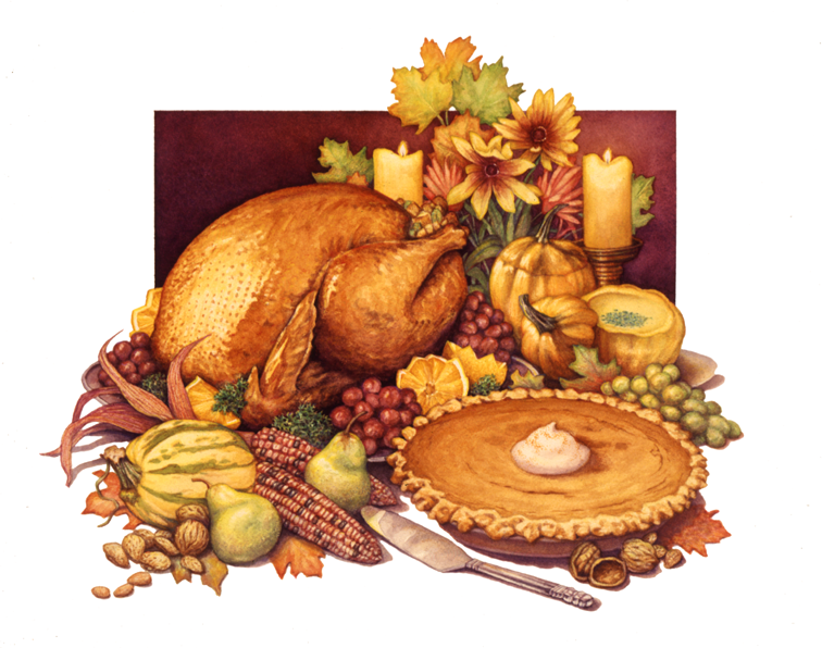 Food Thanksgiving Illustration Design Wallpaper 1366x768 Ipad Iphone